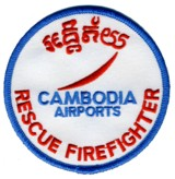 Abzeichen Rescue and Firefighter Cambodia Airports