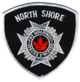 Abzeichen Fire Department North Shore / New Brunswick / Kanada