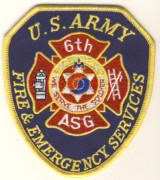 Abzeichen Fire Department 6th U.S. Army
