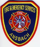 Abzeichen Fire and Emergency Services Ansbach