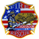 Abzeichen Fire and Rescue PENTAGON