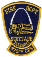 Abzeichen Fire Department Scott Air Force Base