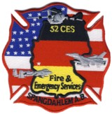 Abzeichen Fire & Emergency Service Spangdahlem Air Force Base