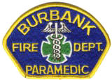 Abzeichen Fire Department Burbank / Paramedic