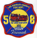 Abzeichen Fire Department 58 Los Angeles County