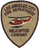 Abzeichen Fire Department Los Angeles City Helicopter Company