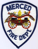 Abzeichen Fire Department Merced