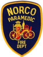 Abzeichen Fire Department Paramedic Norco
