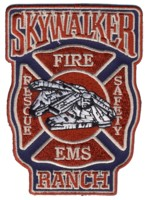 Abzeichen Fire Rescue EMS Safety Skywalker Ranch