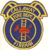 Abzeichen Fire Department Call Away