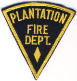 Abzeichen Fire Department Plantation