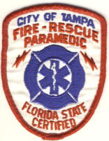 Abzeichen Fire & Rescue Paramedic City of Tampa