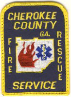 Abzeichen Fire Department Cherokee County