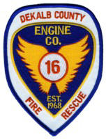 Abzeichen Fire Department DeKalb County / Company 16