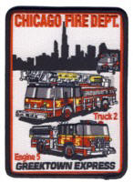 Abzeichen Fire Department Chicago Engine Company 5
