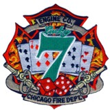 Abzeichen Fire Department Chicago / Engine Company 7