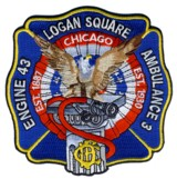 Abzeichen Fire Department Chicago / Engine Company 43