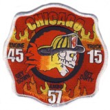 Abzeichen Fire Department Chicago / Engine Company 45