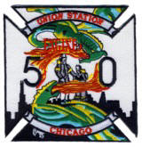 Abzeichen Fire Department Chicago Engine Company 50