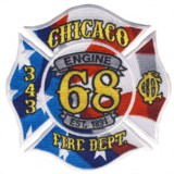 Abzeichen Fire Department Chicago / Engine Company 68