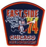 Abzeichen Fire Department Chicago / Engine Company 74