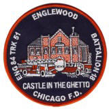 Abzeichen Fire Department Chicago Engine Company 84