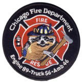 Abzeichen Fire Department Chicago / Engine Company 89