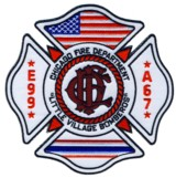 Abzeichen Fire Department Chicago / Engine Company 99