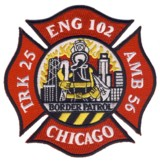 Abzeichen Fire Department Chicago / Engine Company 102