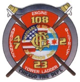 Abzeichen Fire Department Chicago / Engine Company 108