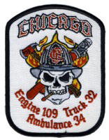 Abzeichen Fire Department Chicago / Engine Company 109