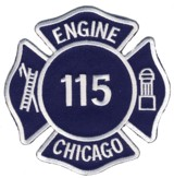 Abzeichen Fire Department Chicago / Engine Company 115