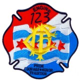 Abzeichen Fire Department Chicago / Engine Company 123