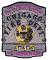 Abzeichen Fire Department Chicago / We Remember 3-3-5