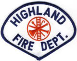 Abzeichen Fire Department Highland