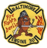 Abzeichen Fire Department Baltimore City / Engine 30