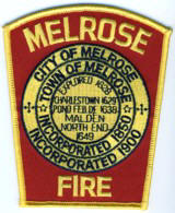 Abzeichen Fire Department City of Melrose