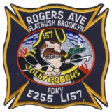 Abzeichen Fire Department City of New York / Engine 255 / Tower Ladder 157