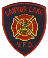 Abzeichen Volunteer Fire Department Canyon Lake