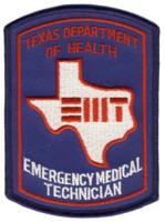 Abzeichen Texas State Emergency Medical Technician
