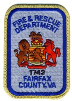 Abzeichen Fire and Rescue Department Fairfax County