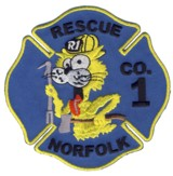 Abzeichen Fire Department Norfolk / Rescue 1